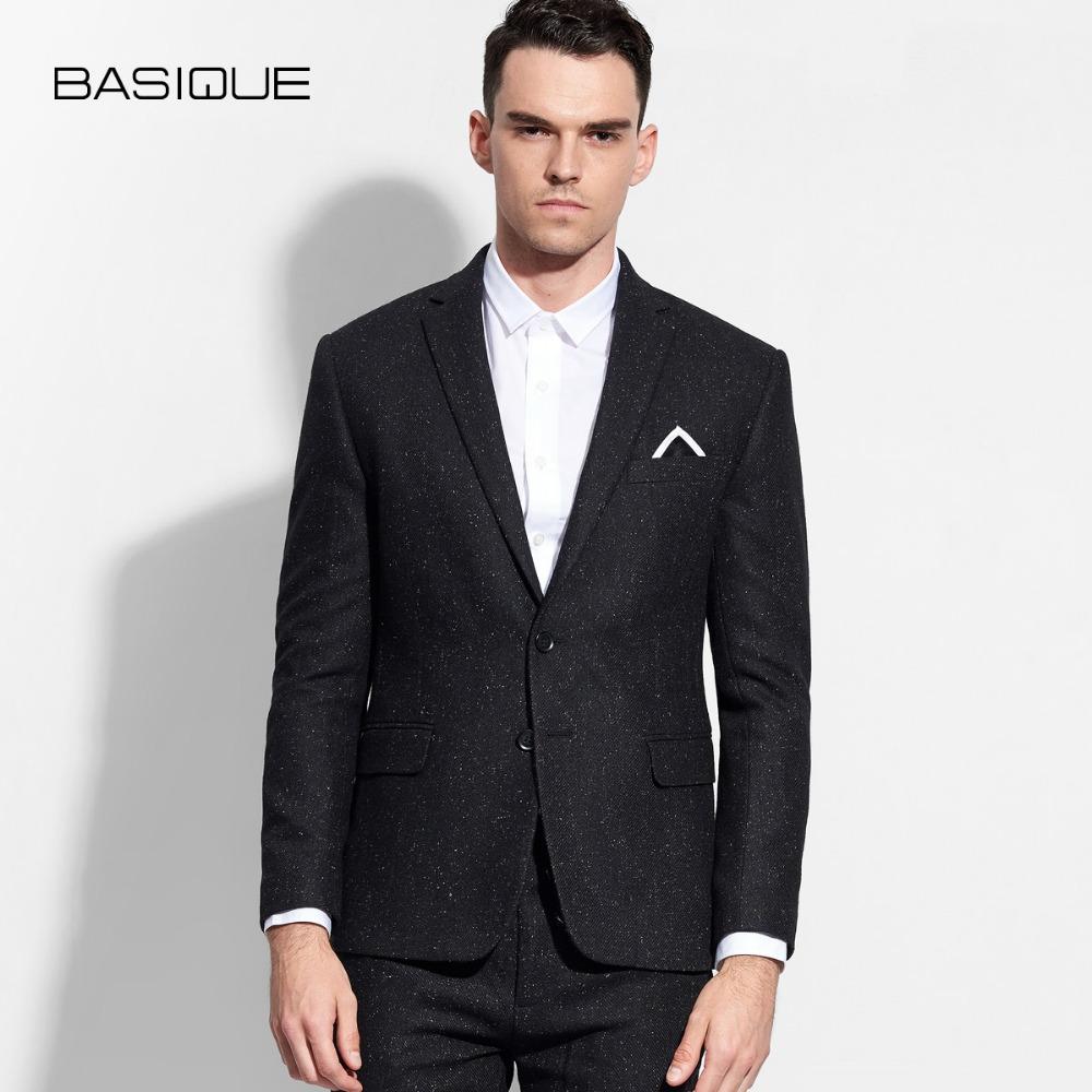[해외]남성 블레이저 2017 봄 가을 60 % 양모 고품질 브랜드 남성 의류 블랙 슬림 피트 맨즈 신랑 비즈니스 무대 착용/men blazer 2017 new arrival spring autumn 60% wool high quality brand men clothi