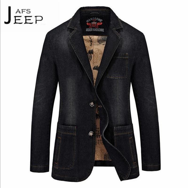 [해외]AFS JEEP 다크 블루 맨 & 캐주얼 데님 블레이저, 슬림 스타일 두꺼운면 슬림 카고, 남성 & s 2017 terno masculino brand jacket/AFS JEEP Dark Blue Man&s Casual Denim Blazer,S