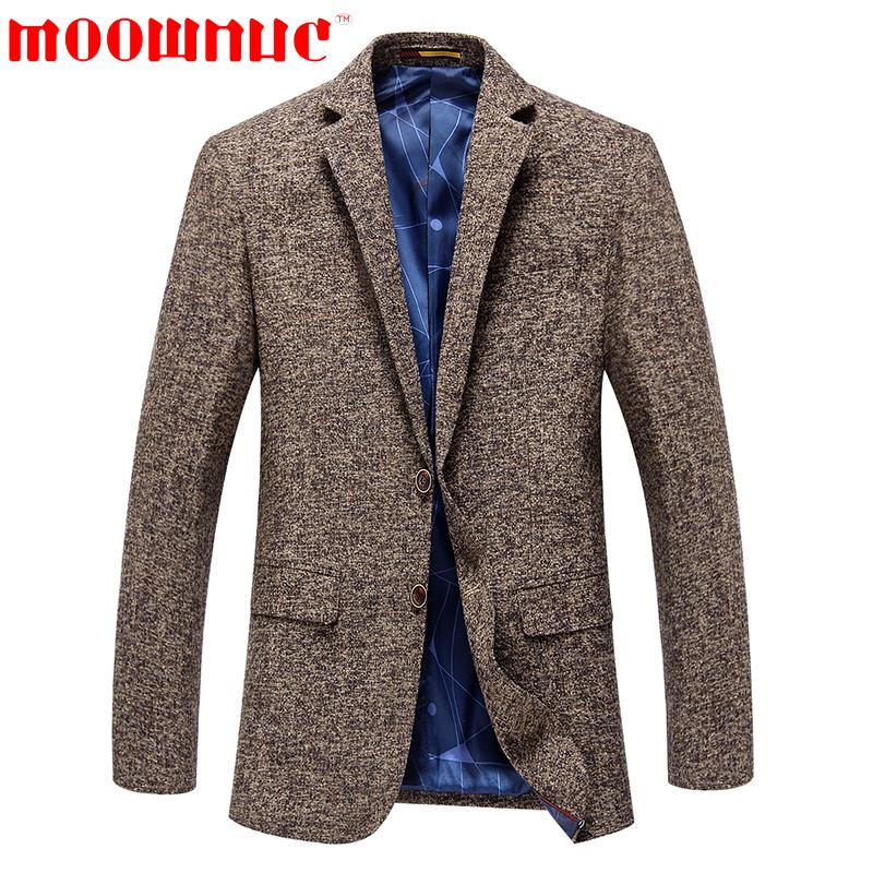 [해외]레저 복 패션 코트 캐주얼 브라운 공식 비즈니스 정장 남성 클래식 블레이져 남성 슬림 피트 가을 브랜드 MOOWNUC/Leisure Suits Fashion Coat Casual Brown Formal Business Suits Men Classic Blazer