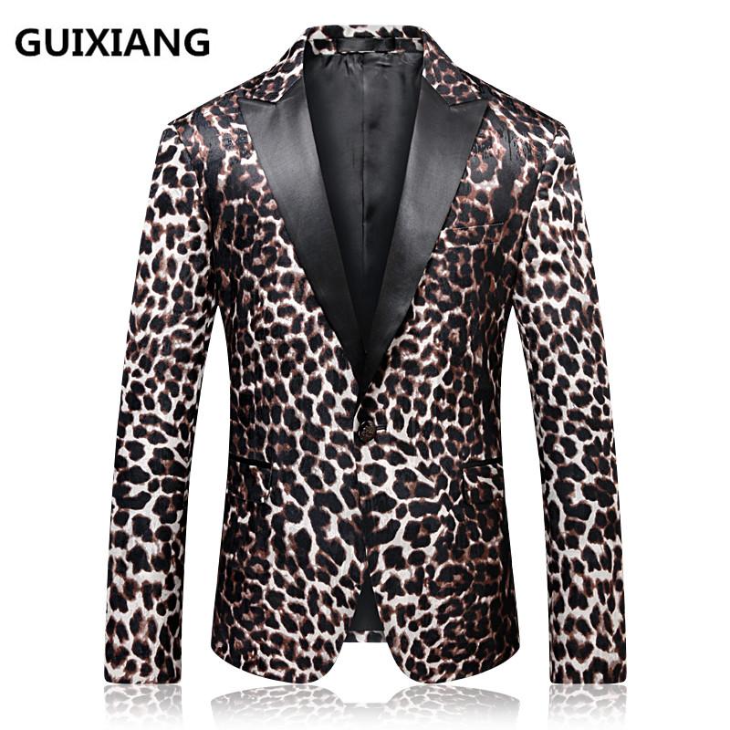 [해외]2018 봄 신입 남성 & 비즈니스 캐주얼 블레이저 남성 코트 재킷 클래식 모직 레오파드 프린트 블레이저 남성 슈트 사이즈 M -4XL/2018 spring new arrival men&s business casual blazers men coats ja