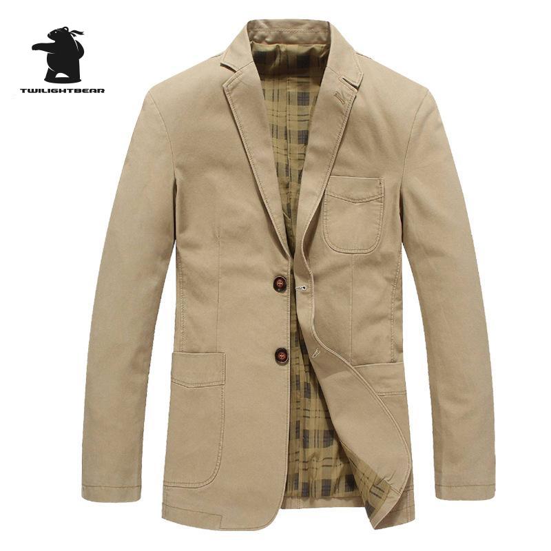 [해외]브랜드 남자 & 캐주얼 블레이저 패션 디자이너 밀리터리 플러스 크기 100 % 코 튼 남자 캐주얼 레저 정장 코트 B16E5618/Brand Men&s Casual Blazers Fashion Designer Military Plus Size  100%