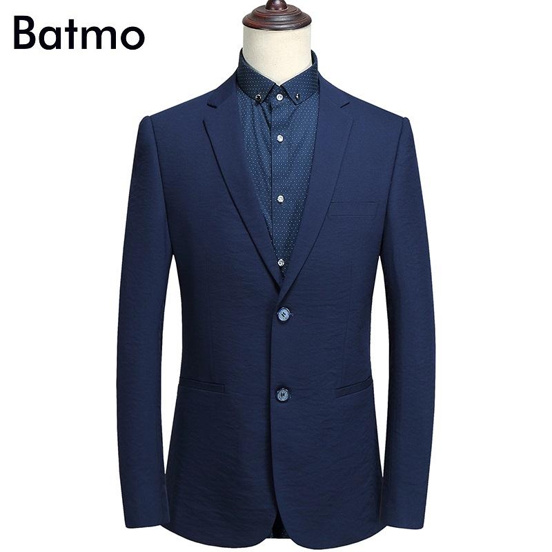 [해외]Batmo 2018 고품질 해군 파란 우연한 얇은 한 벌 남자, 남자 & s 재킷, 유행 남자 & s 재킷 C807/Batmo 2018 new arrival high quality navy blue casual thin suits men,men&s
