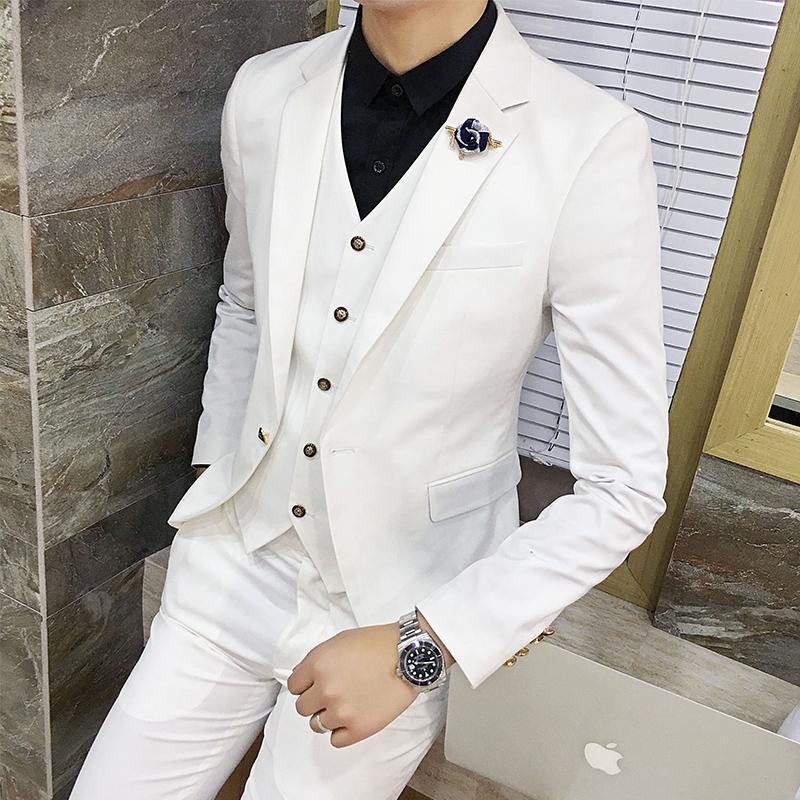 [해외]멀티 컬러 선택 남성 및 여성용 정장 비즈니스 웨딩 연회 남성 정장 재킷 슬림 피트 남성 코트 2018 New Man Blazer S 3XL/Multi Color Selection Men&s Suits Jackets Business Wedding Banquet