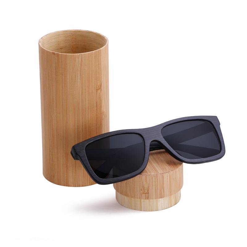 [해외]2016 새로운 블랙 프레임 대나무 선글라스 편광 렌즈 나무 선..