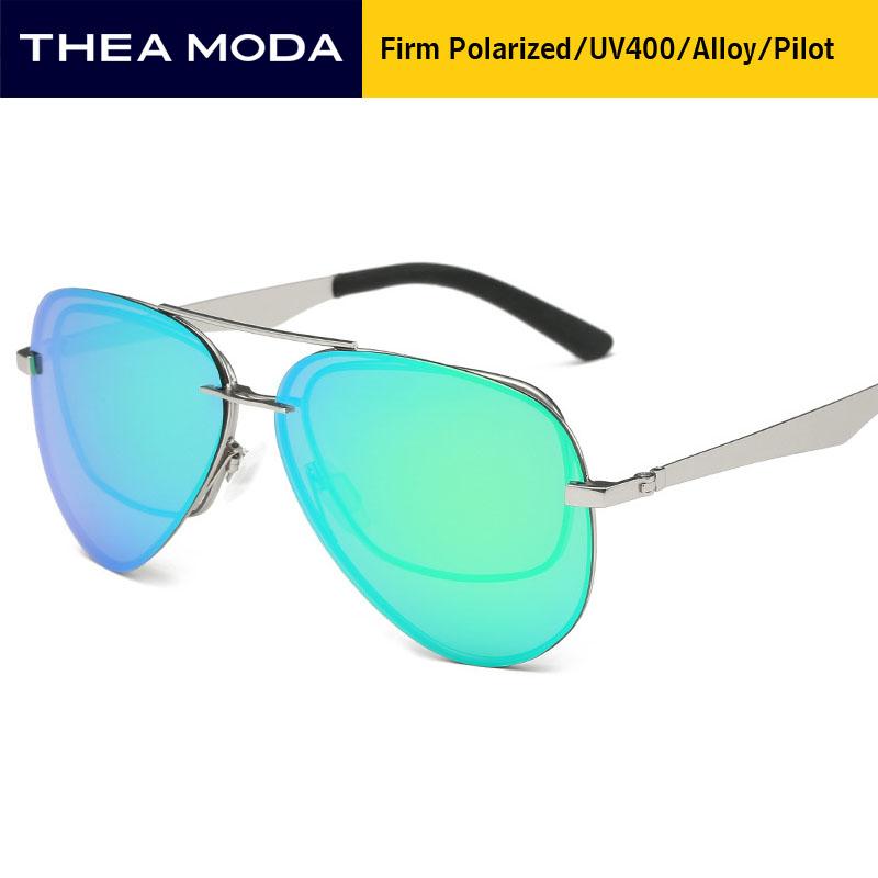 [해외]THEAMODA TMAP-A351 새로운 폴라로이드 에비에이터 선글라스 남성 파일럿 라운드 합금 태양 안경 lunette 드 솔레 브랜드 디자이너 안경/THEAMODA TMAP-A351 New Polaroid aviator Sunglasses Men Pilot