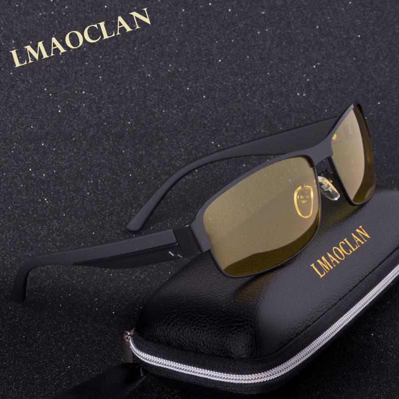 [해외]2017 레티나 편광 야간 운전 선글라스 여성 브랜드 디자이너 옐로우 렌즈 야간 운전 용 안경 고글 눈부심 감소/2017 Mens Polarized Night Driving Sunglasses Women Brand Designer Yellow Lens Night