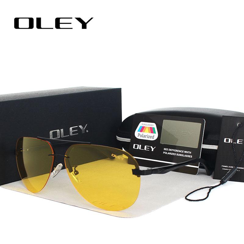 [해외]OLEY 옐로우 편광 선글라스 남자 야간 투시경 브랜드 디자이너 여성 안경 자동차 운전사 남자용 항공기 고글/OLEY Yellow Polarized Sunglasses Men night vision glasses Brand Designer women specta