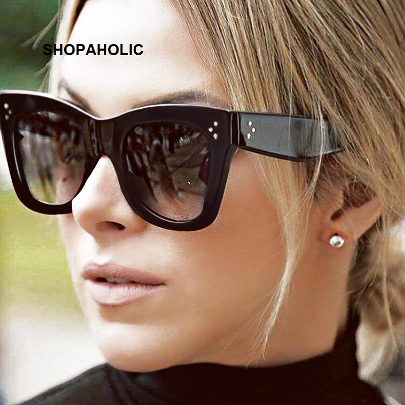 [해외]플랫 탑 미러 선글라스 여성 브랜드 디자이너 빈티지 럭셔리 선글라스 여성 고양이 아이 선글라스 Oculos De Sol Masculino/Flat Top Mirrored Sunglasses Women Brand Designer Vintage Luxury Sun