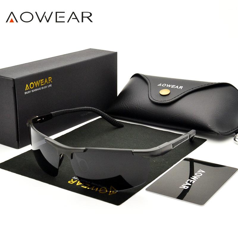 [해외]AOWEAR 럭셔리 알루미늄 마그네슘 선글라스 남성을스포츠 야간 옐로우 운전 거울 일 안경 안경 액세서리 A51/AOWEAR Luxury Aluminium Magnesium Sunglasses Men Polarized Sport Night Yellow Drivi