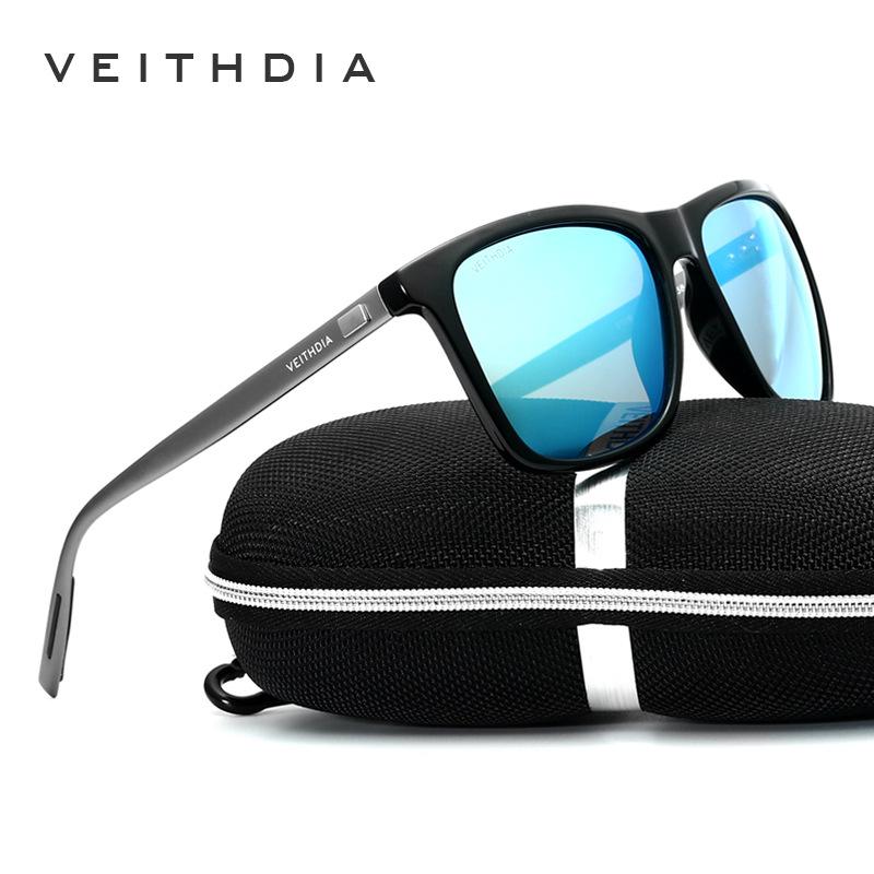 [해외]VEITHDIA 브랜드 UniRetro 알루미늄 + TR90 선글라스 Polarized Lens 빈티지 안경 액세서리 남성 / 여성 6108 용 Sun Glasses/VEITHDIA Brand UniRetro Aluminum+TR90 Sunglasses Pola