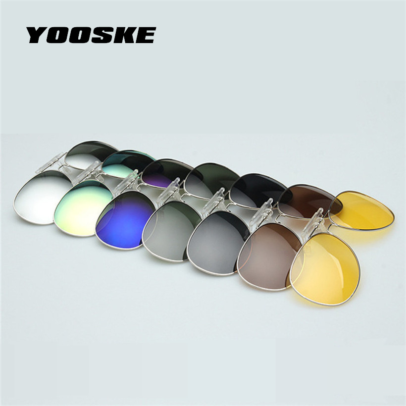 [해외]YOOSKE 선 글래스 남성 클립에 대한 클립 클립 Myopia 안경에 미러 클립 UV400 클립 Sun Glasses Night Vision 운전 안경/YOOSKE Polarized Clip on Sunglass Men Women clip on Myopia G