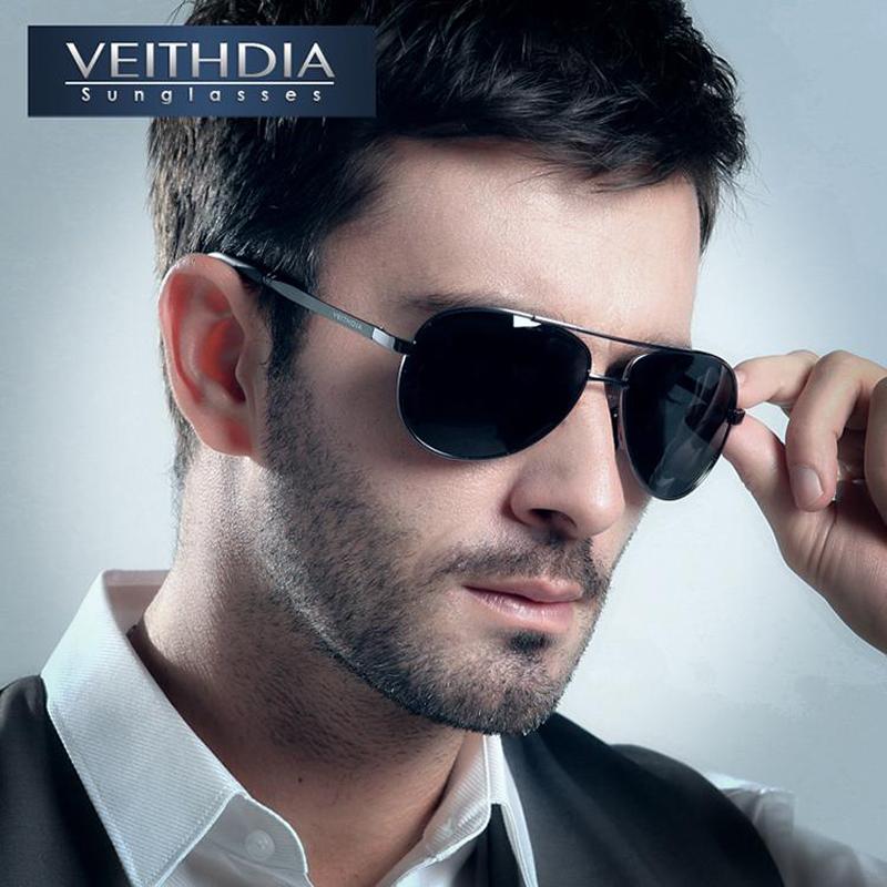 [해외]VEITHDIA Brand Men & s 파일럿 편광 선글라스 남자 Sun Glasses Alloy Frame 운전 안경 oculos de sol masculino shades 1306/VEITHDIA Brand Men&s Pilot Polarized S