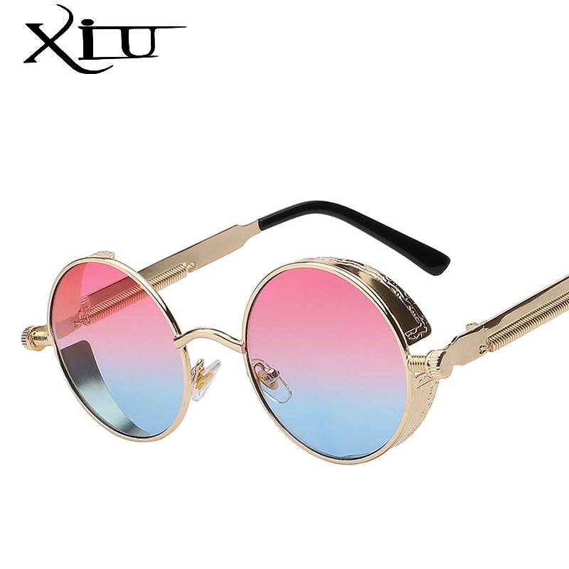 [해외]XIU 고딕 Steampunk 망 선글라스 빈티지 금속 남자 선글라스 여성 라운드 태양 안경 레트로 안경 최고 품질 UV400/XIU Gothic Steampunk Mens Sunglasses Vintage Metal Men Sunglasses Women Rou