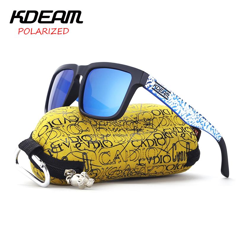 [해외]KDEAM 2017 클래식 스포츠 선글라스 남자 편광 스퀘어 썬 안경 블루 프레임 & amp; 스노우 디자인 기존 케이스 KD901P-C20/KDEAM 2017 Classical Sport Sunglasses Men polarized Square Sun