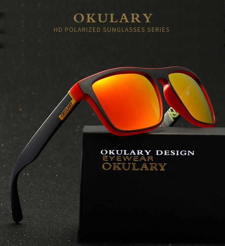 [해외]OKULARY 편광 선글라스 남자 반사 코팅 스퀘어 썬 안경 UV400 운전 낚시 스포츠 아이웨어 오리지널 케이스/OKULARY Polarized Sunglasses Men Reflective Coating Square Sun Glasses UV400 Drivi