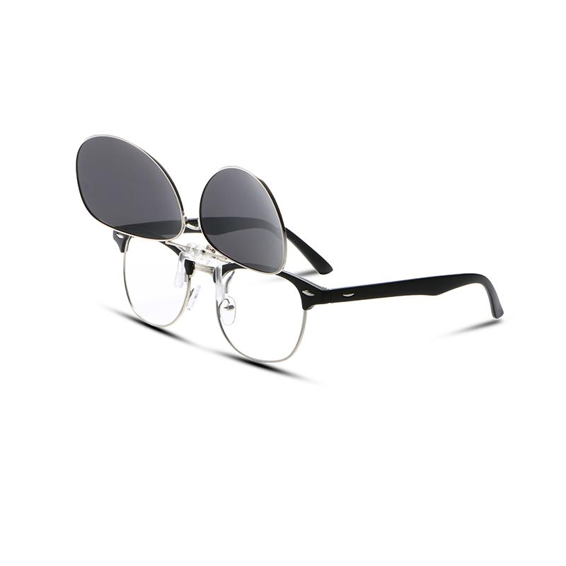 [해외]2017 남성용 안경 선글라스에 파일럿 근시 클립 클립 선글라스를 뒤집기 브랜드 디자이너 운전 고글/2017 Pilot Myopia Clip on Polarized Sunglasses For Men Women Flip Up Clip Sunglasses Brand
