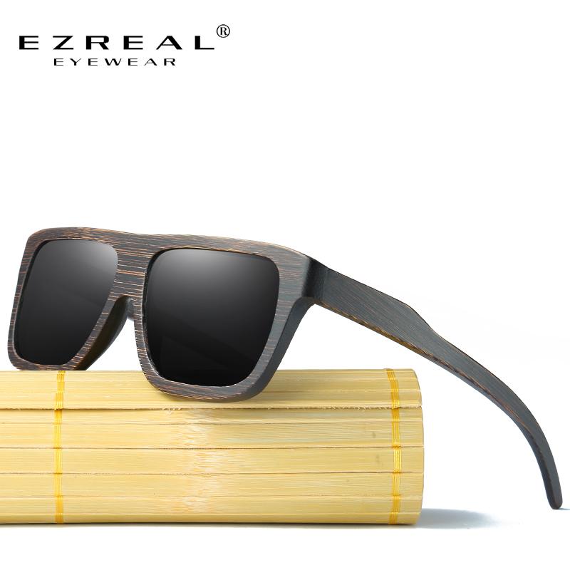 [해외]EZREAL 편광 된 나무 선글라스 레트로 대나무 프레임 태양 안경 운전 남자 EZ029 수 제 목조 안경 안경/EZREAL Polarized Wood Sunglasses Retro Bamboo Frame Driving Sun Glasses Handmade Wo