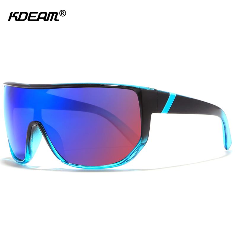 [해외]KDEAM 원피스 남성용 선글라스 Steampunk 고글 충격 방지 렌즈 빅 사이즈 Sun Glasses Protective Box KD100/KDEAM One-piece Men Sunglasses Steampunk Goggles Impact-resistant