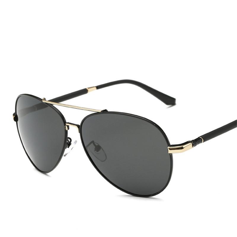 [해외]남성용 선글라스 처방전 선글라스 맞춤형 편광 안경 대형 프레임 음영 선글라스 근시 원시/Men&s sunglasses Customize prescription sunglasses Polarized glasses Large frame shading metal su