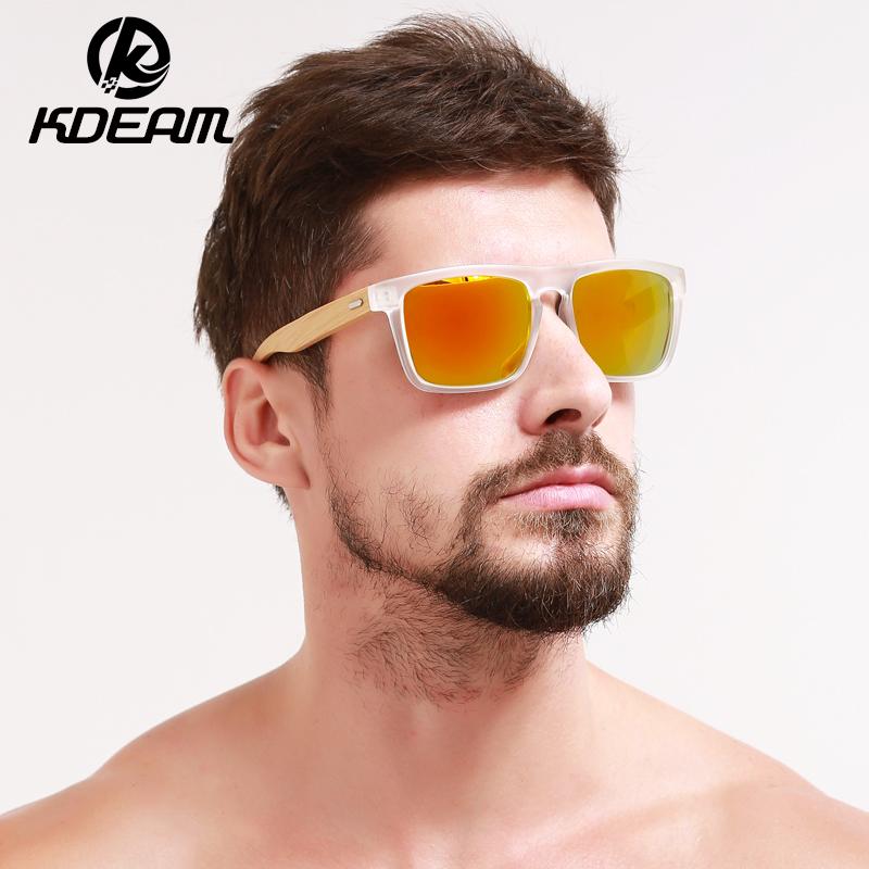 [해외]KDEAM 2018 NEW 대나무 선글라스 투명 프레임 남자 태양 안경 미러 UV400 보호 5 색 여성 고글 케이스 KD005/KDEAM 2018 NEW Bamboo Sunglasses Transparent Frame Men Sun Glasses Mirror