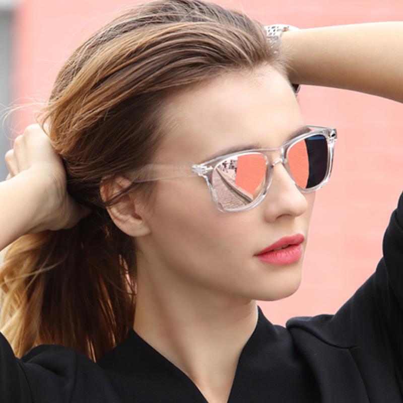 [해외]긴지기 선글라스 여자 UV400 남자 편광 된 나이트 비전 투명 프레임 안경 남자 거울 반사 태양 안경 UV400/Long Keeper Sunglasses Women Polarized UV400 Men Night Vision Transparent Frame Ey