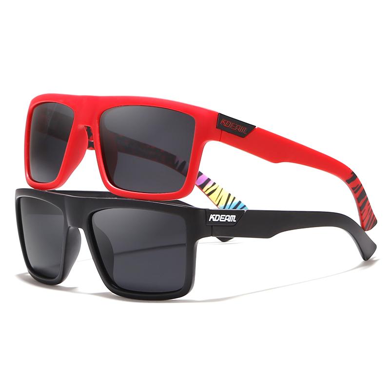 [해외]KDEAM 직선 톱 라인 직사각형 편광 선글라스 남성 브랜드 및 시그니처 Sun Glasses Sport Shades에 보호 케이스 포함/KDEAM Straight Topline Rectangle Polarized Sunglasses Men Brand&s Sig