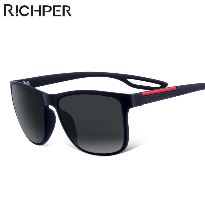 [해외]RICHPER 빈티지 스퀘어 선글라스 남자 태양 안경 패션 그라데이션 태양 광선 남성 여성 블랙 드라이빙 UniEyewear Oculos Gafas/RICHPER Vintage Square Sunglasses Men Sun Glasses Fashion Gradi