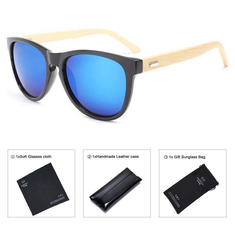 [해외]남성 대나무 대나무 버터 플라이 선글라스 / 여성 거울 쉐이드, 손으로 찌르는 가죽 케이스/Wooden Bamboo Butterfly Sunglasses For Men/Women Mirror Shades ,comea handmade leather case