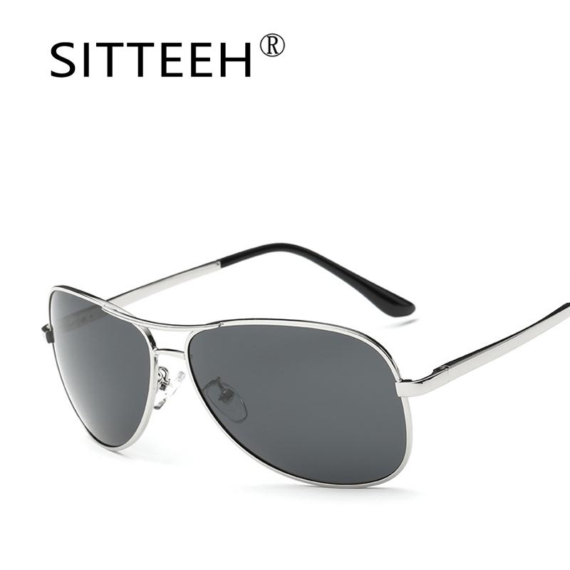 [해외]SITTEEH 선글라스 금속 편광 선글라스 남성 편광 디자인 브랜드 oculos gafas de sol hombre hd 편광 거울 SI17/SITTEEH Sun glasses men polarized driving sunglasses metal Brand de