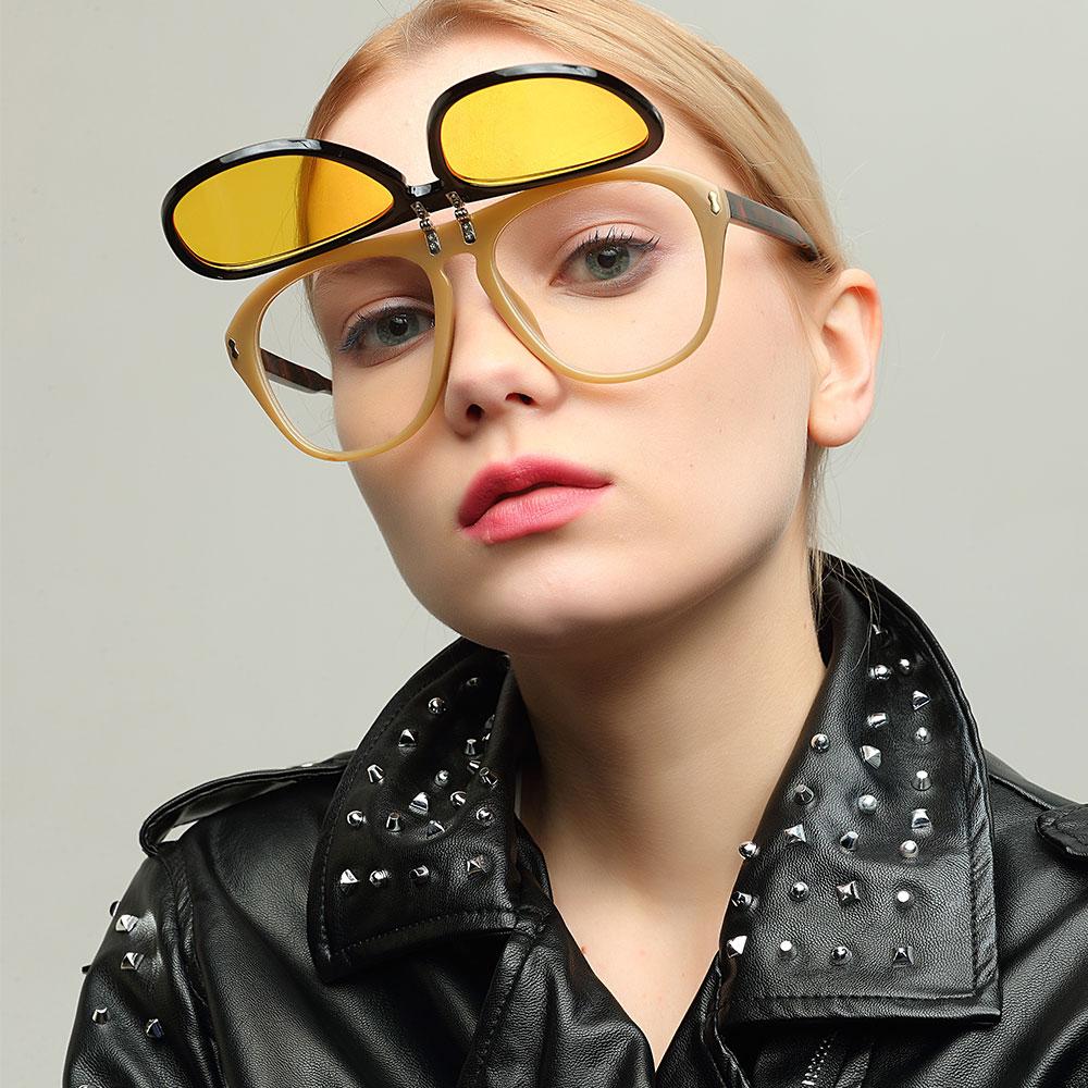 [해외]mimiyou Big Oversized Flip Up 여성 안경 빈티지 패션 남자 선글라스 브랜드 선글라스 2018 oculos de sol feminino/mimiyou Big Oversized Flip Up  Women Eyeglasses Vintage Fa