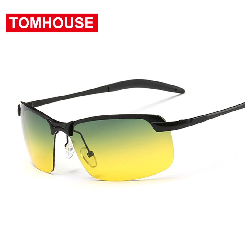 [해외]2018 나이트 비전 고글 운전 편광 선글라스 남자 운전용 안경 알로이 프레임 gafas De Sol Oculo UV400/2018 Day Night Vision Goggles Driving Polarized Sunglasses Men Night Driving