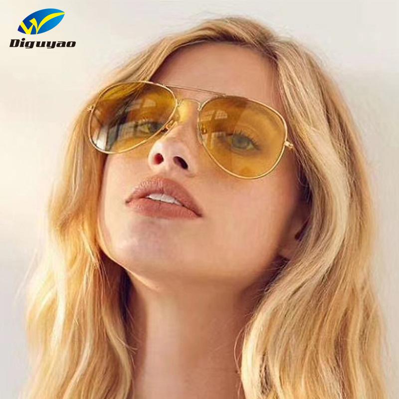 [해외]2018 패션 캔디 컬러 에비에이터 선글라스 여성 남성 레트로 브랜드 디자인 금속 파일럿 선글라스 투명한 오로 나이트 렌즈/2018 Fashion Candy Color Aviator Sunglasses Women Men Retro Brand Design Meta
