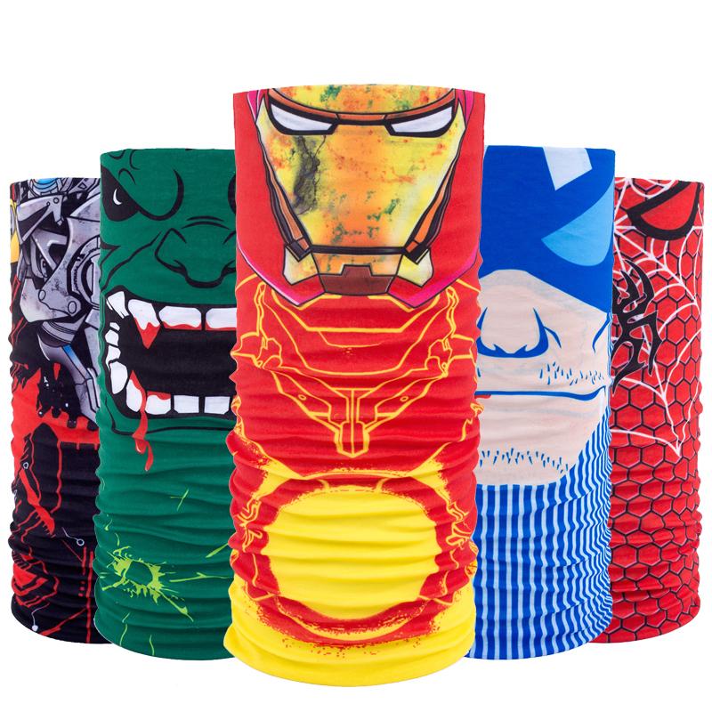 [해외]Marvel 다기능 스카프 페이스 마스크 전투 머리띠 모자를 쓰는 모자 오토바이 할로윈의 목 Bandanas Tubular/Marvel Multi-function Scarf Face Mask Combat Headband Headwear Motorcycle Hal