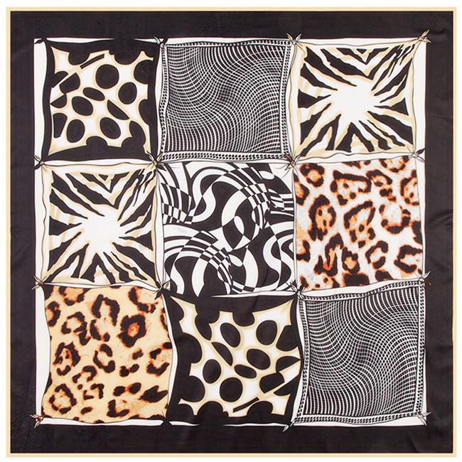 [해외]중동 이슬람 라마단 실크 능 직물 스카프 9 기하학적 격자 무늬 도트 표범 이슬람 레이디 터번/The Middle East Islamic Ramadan silk twill scarf nine geometric plaid dot leopard Islamic lad