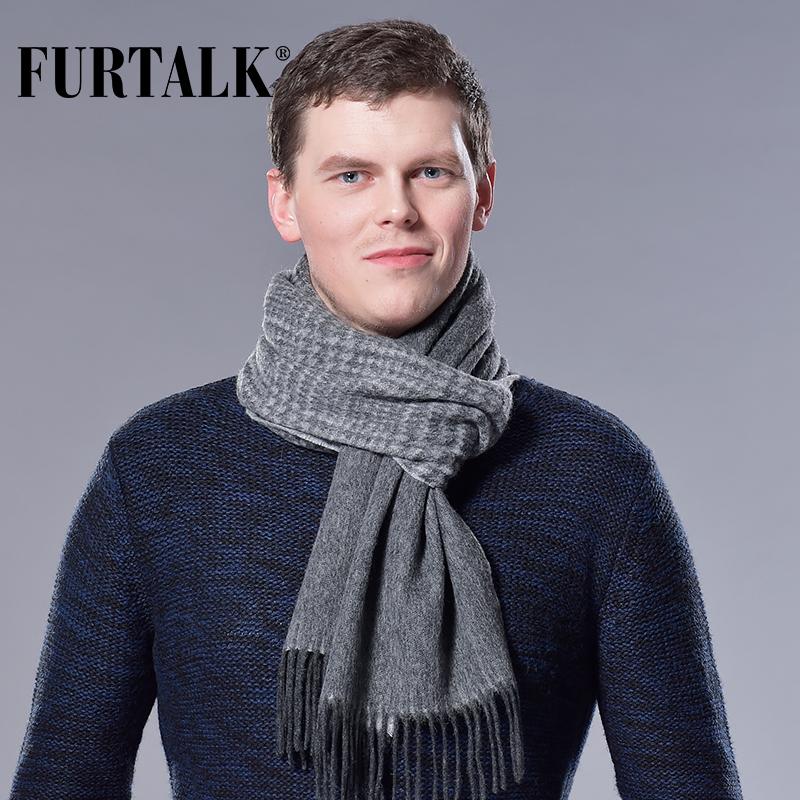 [해외]FURTALK 100 % 램 양모 격자 무늬 남성 스카프 남자 럭셔리 브랜드 겨울 울 두건 봄 가을 스카프 for men/FURTALK 100% Lamb Wool Plaid Male Scarf Men Luxury Brand Winter Wool Bandana S