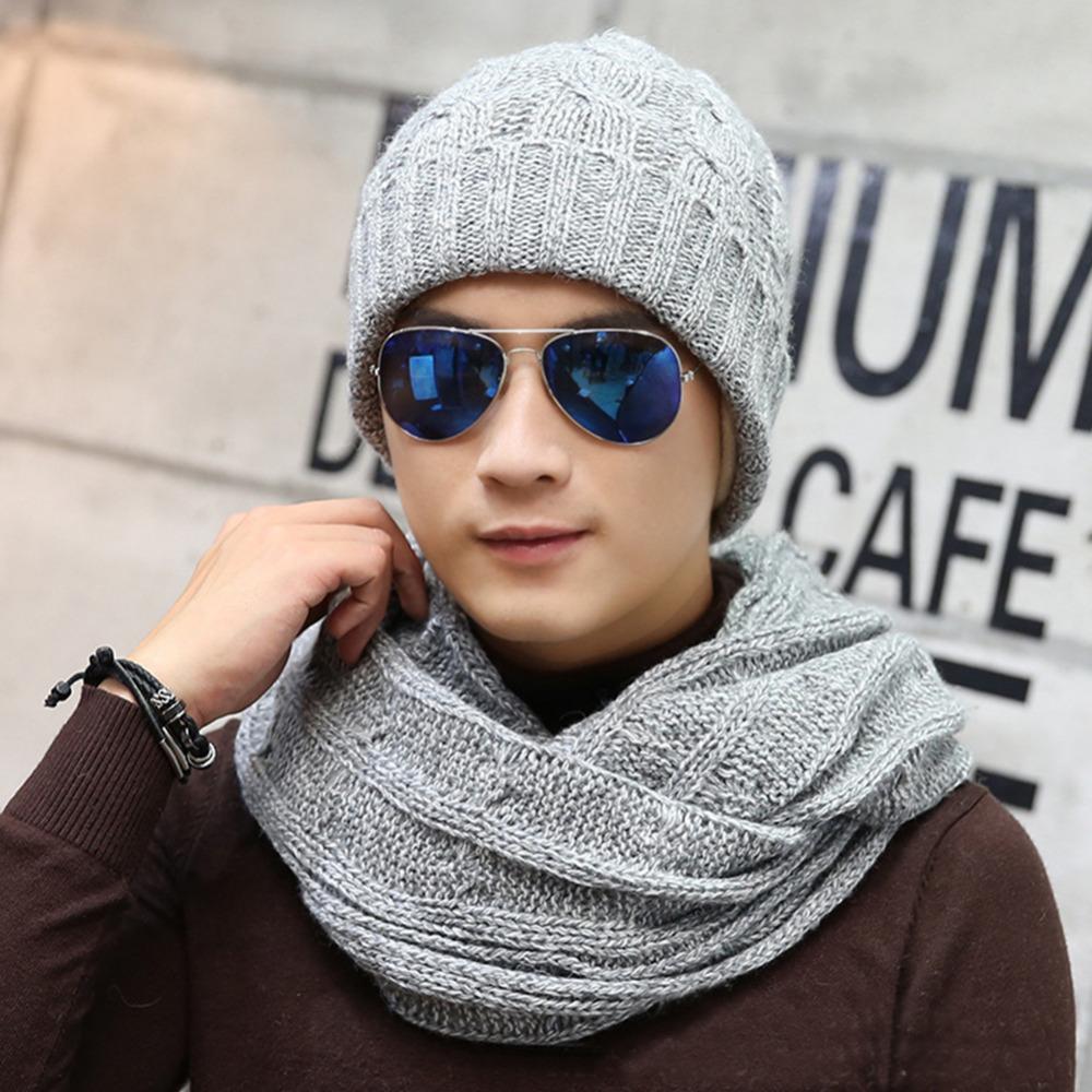 [해외]VBIGER 4pcs 남자 니트 스카프 SetBeanies 장갑 남성 겨울 모자 어깨 걸이 딱지 겨울 스트라이프 ScarveS 모자 세트 닦았 안감/VBIGER 4pcs Men Knitted Scarf SetBeanies Gloves Male Winter Hat