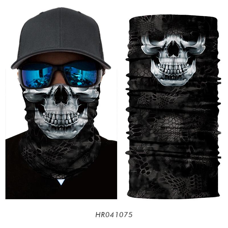 [해외]마법의 3D 원활한 공포 유령 죽음의 해골 목 얼굴 마스크 머리 스카프 자전거 두건의 머리띠 할로윈 스노우 보드 파티 모자/Magic 3D Seamless Horror Ghost Death Skull Neck Face Mask Head Scarf Bicycle
