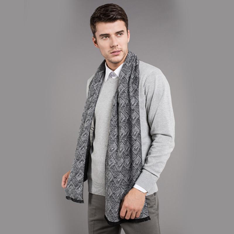 [해외]?양모 캐시미어 스카프 남성 Viscose 스카프 Striped Print 따뜻한 겨울 목도리 Echarpe homme 남자 스카프/ Wool Cashmere Scarf For Men Viscose Scarf Striped Print Warm Winter Sha