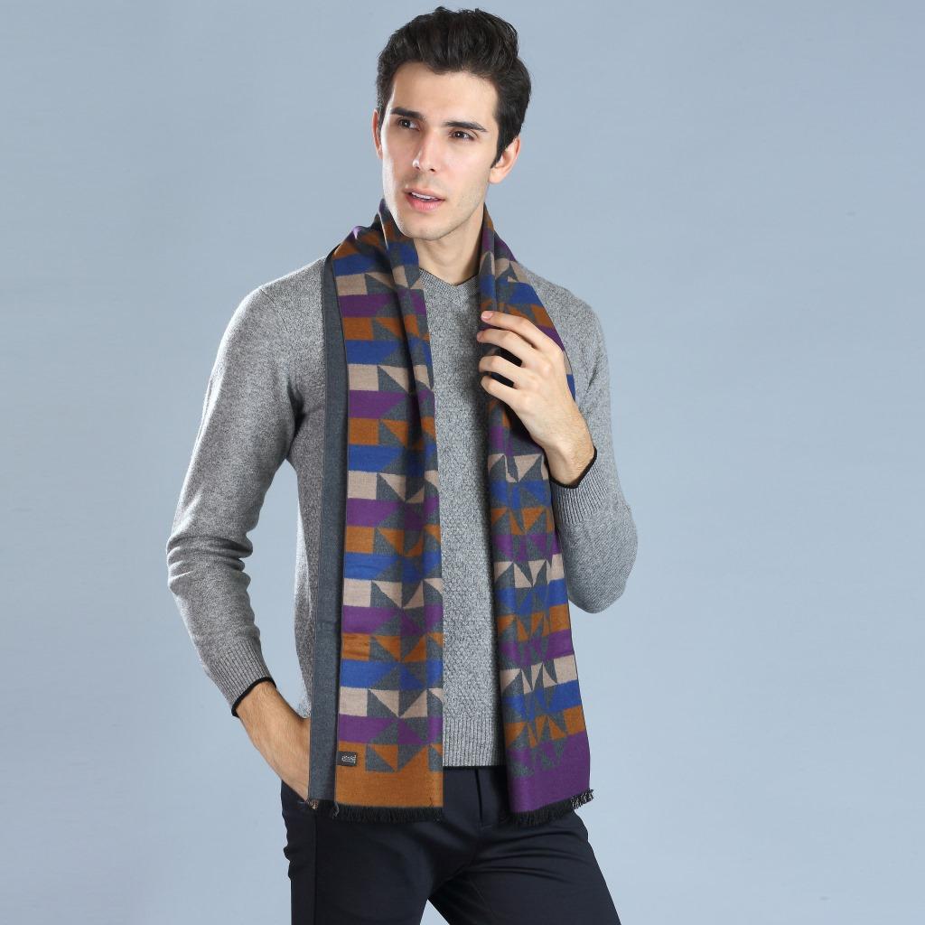 [해외]패션 남자 & s 스카프 180 * 33CM 캐시미어 실크 비즈니스 스타일 Hijab 겨울 따뜻하게 럭셔리 남자 & s Pashminas 어깨 끈 스카프를 래핑합니다./Fashion Man&s Scarf 180*33CM Cashmere Silk B