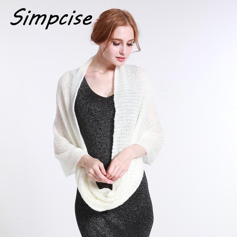 [해외][Simpcise] 패션 여성 겨울 따뜻한 뜨다 루프 스카프 일반 컬러 소프트 목도리 무한 링 스카프 목 따뜻하게 A6A16851/[Simpcise] Fashion Women Winter Warm Knit Loop Scarf Plain Color Soft Sha