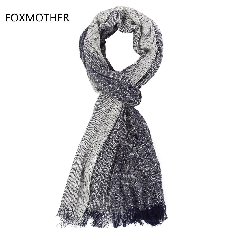 [해외]FOXMOTHER 2017 새로운 브랜드 가을 겨울 연한 해군 화이트 스트라이프 스카프 Mens/FOXMOTHER 2017 New Brand Autumn Winter Soft Navy White Striped Scarf For Mens