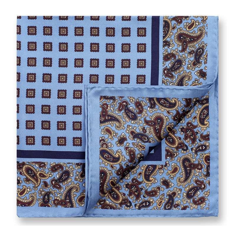 [해외]Men 's s 비즈니스 정장 웨딩 패션 Paisley Print Pocket Square Handkerchiefs 프린트 Hankies Mens Pocket Towel 100 % 실크 능직/Men&s Business Suits Pocket Square