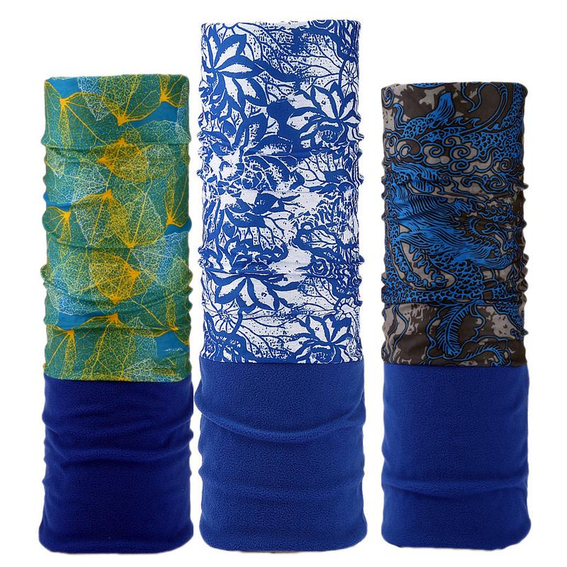 [해외]2017 블루 새로운 멀티 기능 두건의 겨울 양털 따뜻한 머리띠 위장 원활한 매끄러운 튜브 매직 튜브 링 스카프/2017 Blue New Multi Functional Bandana Winter Fleece Warm Headband Camouflage Leave