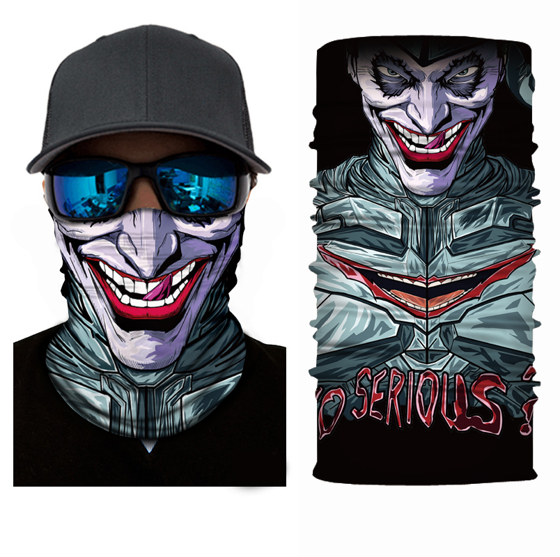 [해외]Mr.Kooky 3D Clown Teething 고스트 페이스 마스크 넥 게이 터 헤드웨어 악마의 매직 스카프 Balaclava Bandana 할로윈의 방패 머리띠/Mr.Kooky 3D Clown Teething Ghost Face Mask Neck Gaiter
