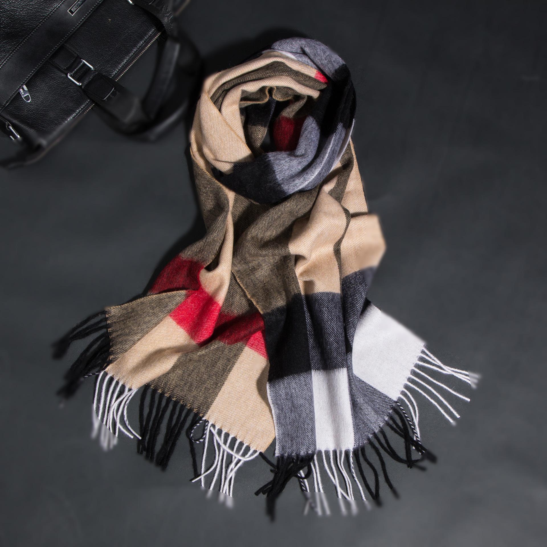 [해외]2018 여성과 남성 겨울 100 % 리얼 캐시미어 스카프 Tassels 따뜻한 럭셔리 브랜드  염소 모피 Hijab는 쇼를 감쌌다./2018 Women and Men  Winter 100% Real Cashmere ScarfTassels Warm Luxury