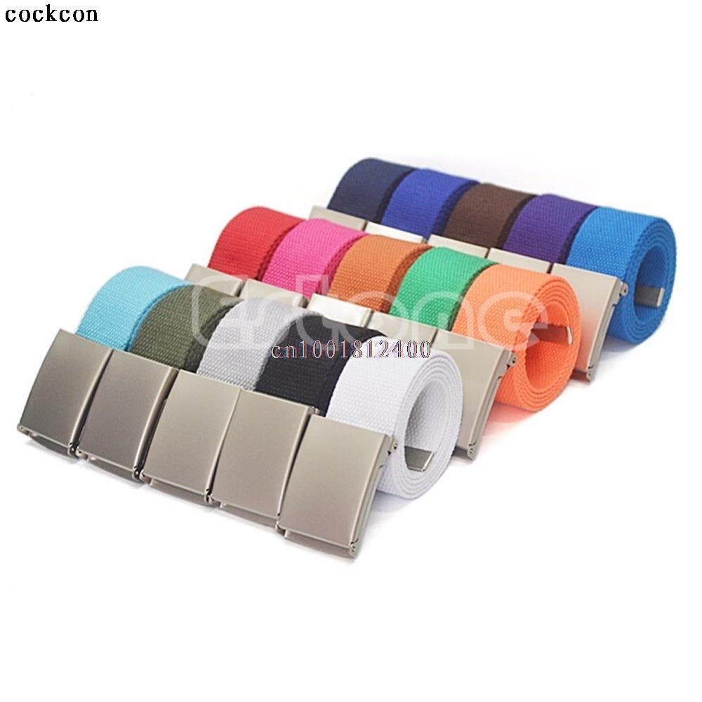 [해외]1PC 패션 벨트 남자 & 소년 & UniCasual 일반 웨 빙 허리 벨트 허리띠 캔버스 벨트/1PC Fashion Belt Men&s Boys& UniCasual Plain Webbing Waist Belt Waistband Canvas Bel