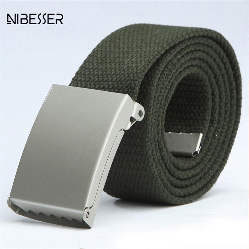 [해외]NIBESSER 패션 남성 여성 일반 벨트 캔버스 편안한 벨트 솔리드 캐주얼 옴므 벨트 청바지 카우보이 바지 110cm/NIBESSER Fashion Men Women General Belts Canvas Comfortable Belt Solid Casual H