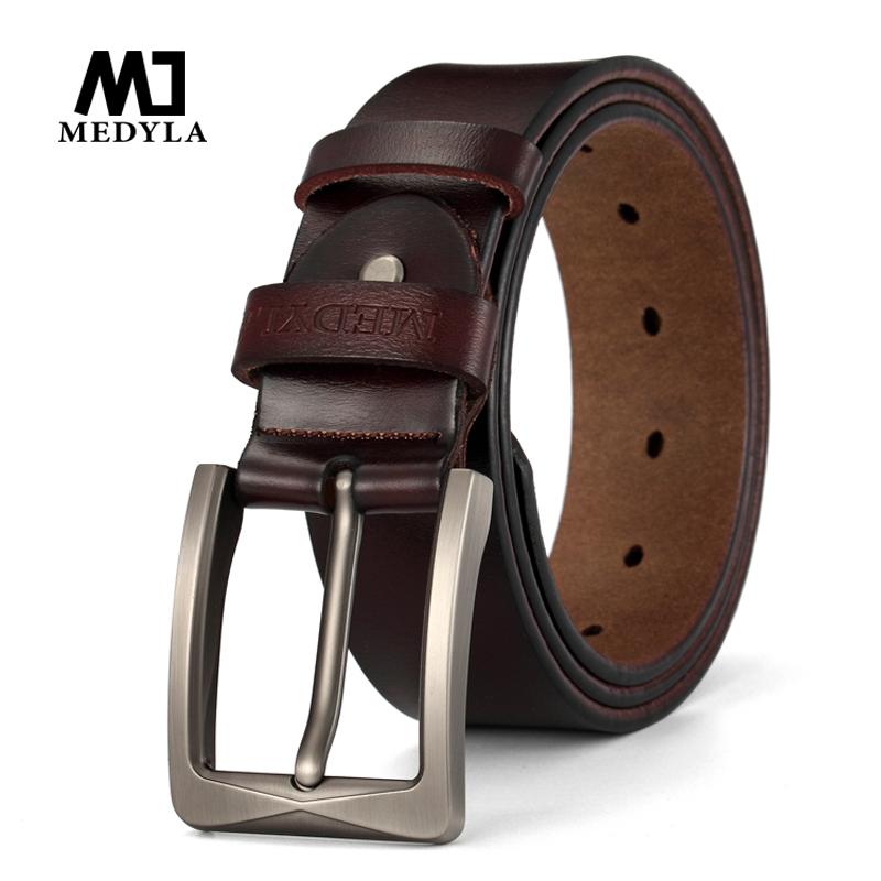[해외]MEDYLA  남자를100 % 쇠가죽  가죽 벨트 Luxury Brand Designer Pin Buckle 빈티지 허리띠 청바지 벨트 선물/MEDYLA Dropshipping 100% Cowhide Genuine Leather Belt for Men Luxur