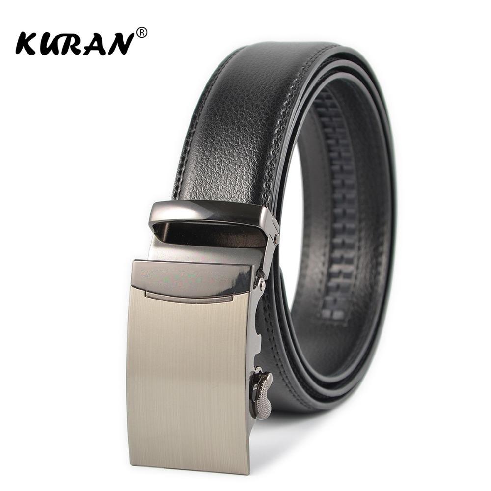 [해외][KURAN] 남자 디자이너 가죽 스트랩 벨트 자동 버클 벨트 남자용/[KURAN] Male Designer Leather Strap Belt Automatic Buckle Belts For Men