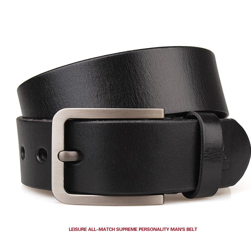 [해외]남성용 fashion100 %  가죽 벨트 남성용 고품질 금속 핀 버클 스트랩 남성 청바지 카우보이 엠 보스 스트랩 130 140 150/Men&s fashion100% Genuine Leather belts for men High quality metal pi